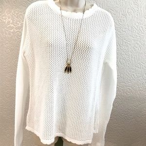 Sweater Pullover Cotton Loose Knit Boxy